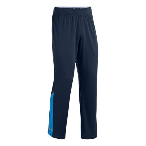 Mens Under Armour Reflex Warm-Up Full Length Pants - Academy/Electric Blue L
