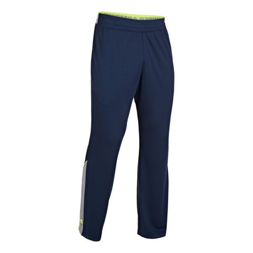 Mens Under Armour Reflex Warm-Up Full Length Pants - Academy/High Vis Yellow LT