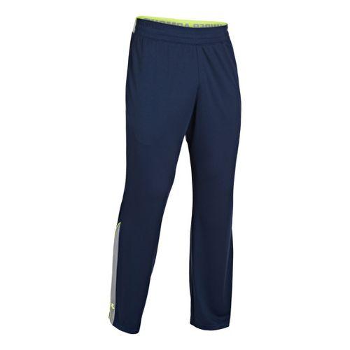 Mens Under Armour Reflex Warm-Up Full Length Pants - Academy/High Vis Yellow XL