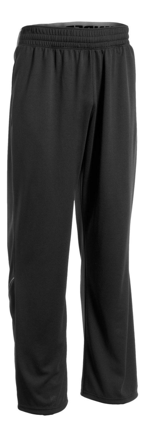 Mens Under Armour Reflex Warm-Up Pants - Black/Black S