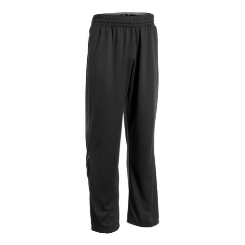 Mens Under Armour Reflex Warm-Up Full Length Pants - Black/Black M