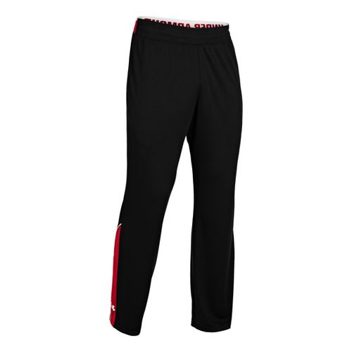 Mens Under Armour Reflex Warm-Up Full Length Pants - Black/Red L