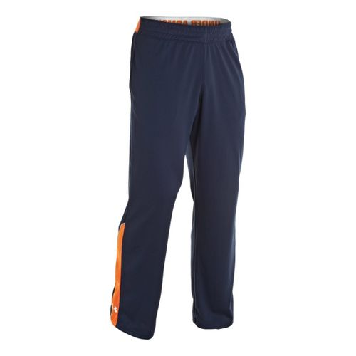 Mens Under Armour Reflex Warm-Up Full Length Pants - Cadet/Explosive M