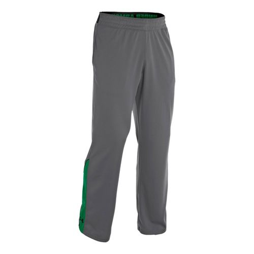 Mens Under Armour Reflex Warm-Up Full Length Pants - Graphite/Astro Green XL