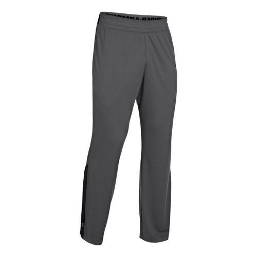 Mens Under Armour Reflex Warm-Up Full Length Pants - Graphite/Black XXL