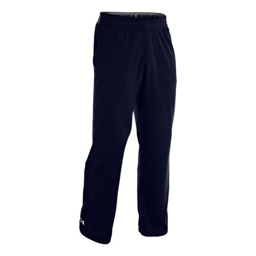 Mens Under Armour Reflex Warm-Up Full Length Pants - Midnight Navy/White L
