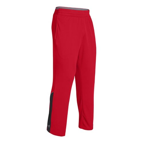 Mens Under Armour Reflex Warm-Up Full Length Pants - Red/Black XLT
