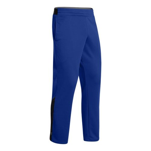 Mens Under Armour Reflex Warm-Up Full Length Pants - Royal/Graphite S