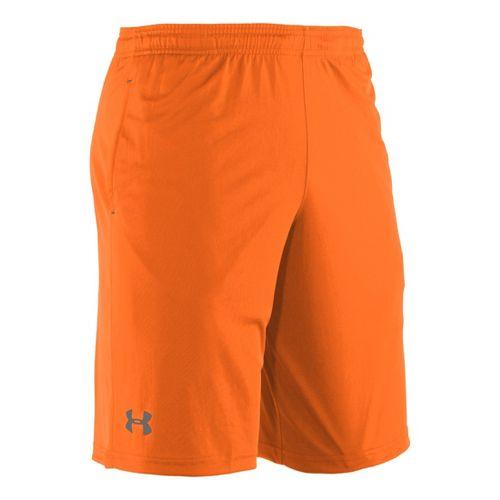 Mens Under Armour Micro Unlined Shorts - Blaze Orange/Graphite XL