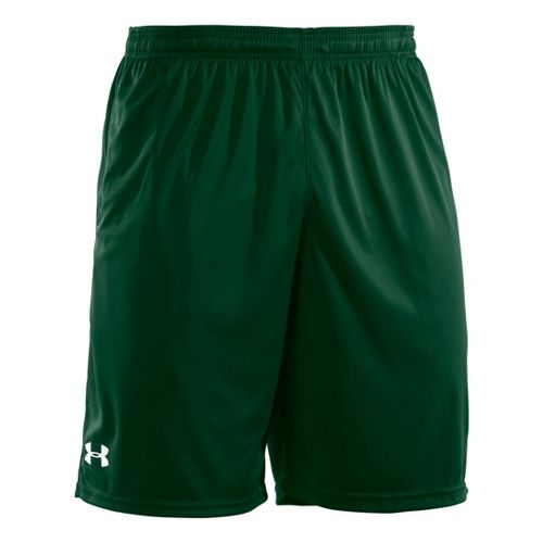 Mens Under Armour Micro Unlined Shorts - Forest Green/White L