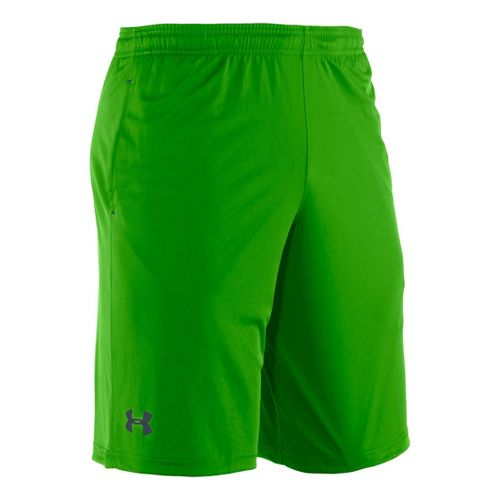 Mens Under Armour Micro Unlined Shorts - Parrot Green/Wire XXL