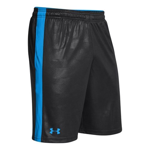 Mens Under Armour Micro Print Unlined Shorts - Black/Electric Blue XL