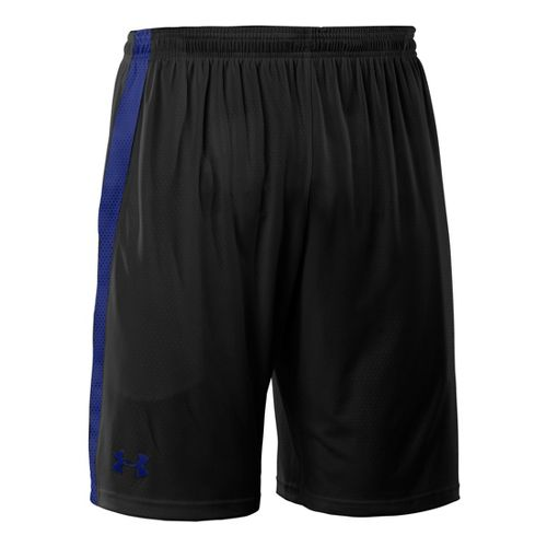 Mens Under Armour Micro Print Unlined Shorts - Black/Royal M