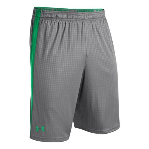 Mens Under Armour Micro Print Unlined Shorts - Graphite/Feisty XXL