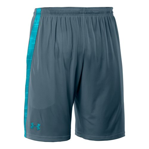 Mens Under Armour Micro Print Unlined Shorts - Wham/Pirate Blue M