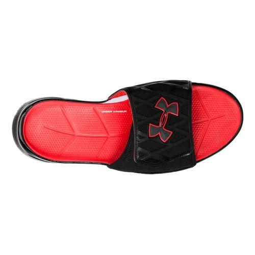 Mens Under Armour Spine SL Sandals Shoe - Black/Matte Silver 14