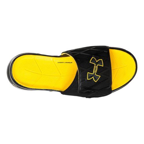 Mens Under Armour Spine SL Sandals Shoe - Black/Taxi 10
