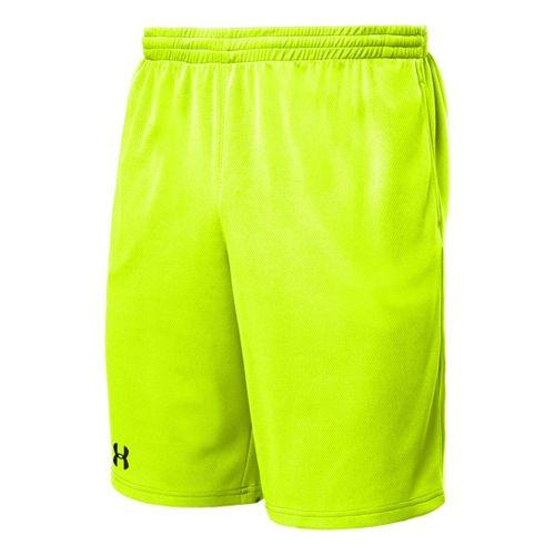 Mens Under Armour Flex Unlined Shorts - High Vis Yellow/Black XL