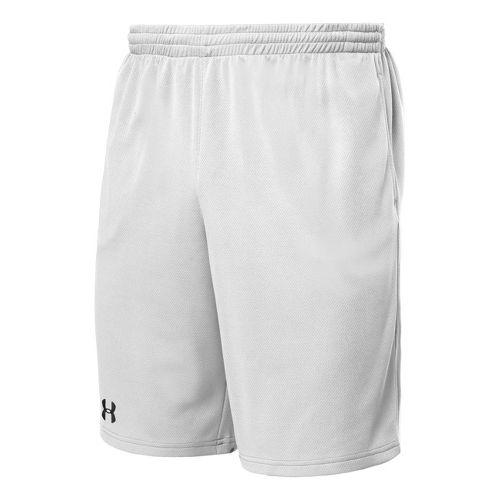 Mens Under Armour Flex Unlined Shorts - White/Black L