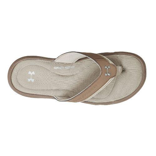 Mens Under Armour Ignite T Sandals Shoe - Uniform/Matte Silver 13