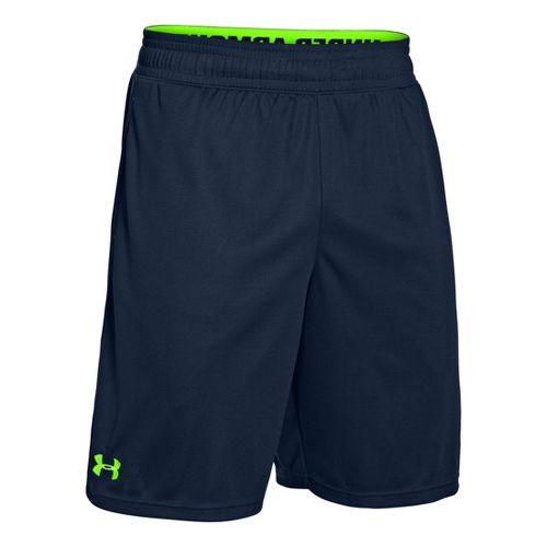 Mens Under Armour Heatgear Reflex 10 Unlined Shorts - Academy/Hyper Green M