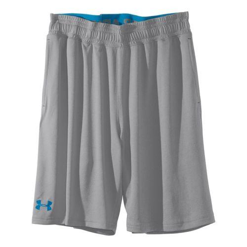 Mens Under Armour Heatgear Reflex 10 Unlined Shorts - Aluminum/Pirate Blue XL