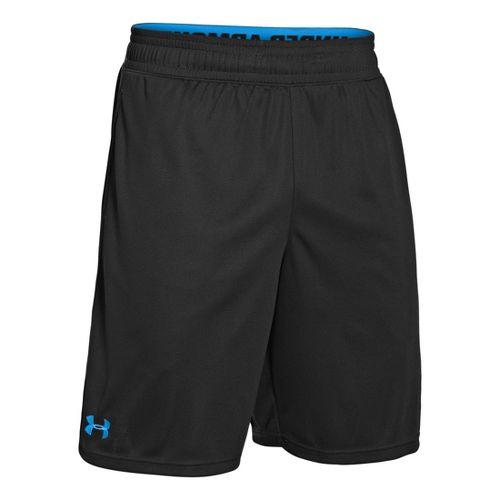 Mens Under Armour Heatgear Reflex 10 Unlined Shorts - Black/Electric Blue L