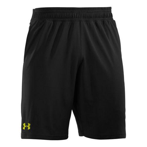 Mens Under Armour Heatgear Reflex 10 Unlined Shorts - Black/High Vis Yellow L
