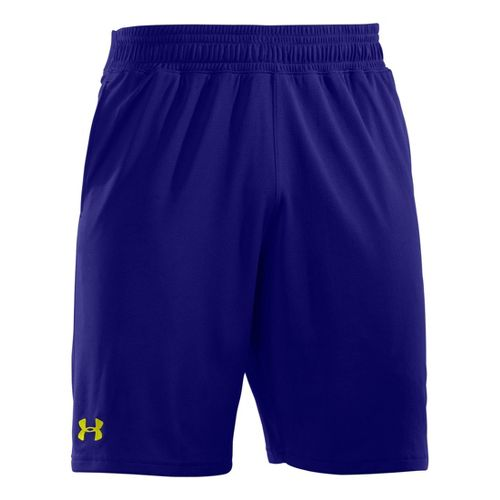 Mens Under Armour Heatgear Reflex 10 Unlined Shorts - Caspian/High Vis Yellow M