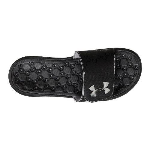 Mens Under Armour Playmaker III SL Sandals Shoe - Black/Matte Silver 10