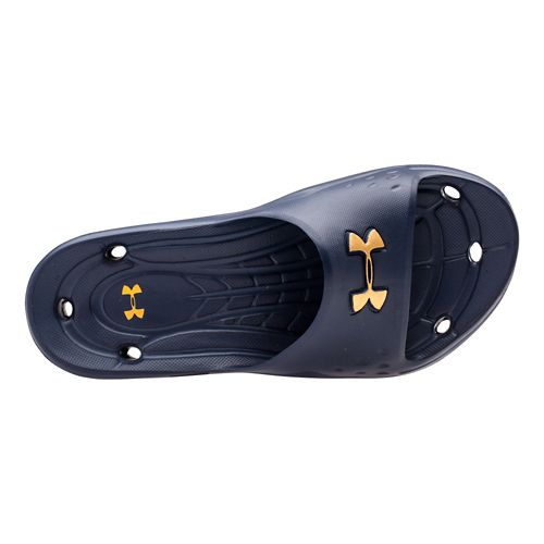 Mens Under Armour Locker II SL Sandals Shoe - Midnight Navy 16