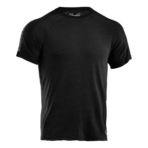 Mens Under Armour Charged Cotton Contender T Short Sleeve Technical Tops - Asphalt ...
