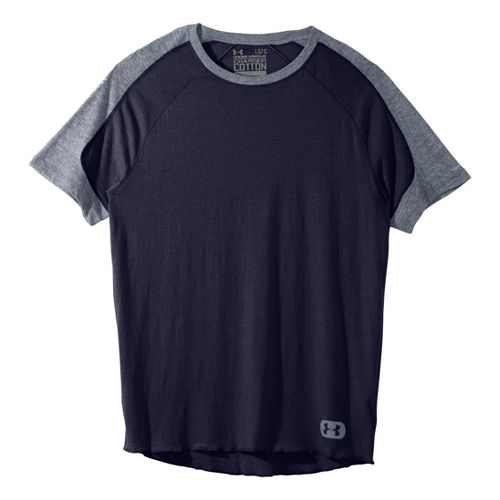 Mens Under Armour Charged Cotton Contender T Short Sleeve Technical Tops - Midnight ...