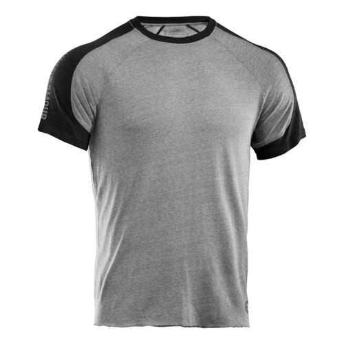 Mens Under Armour Charged Cotton Contender T Short Sleeve Technical Tops - True Grey ...