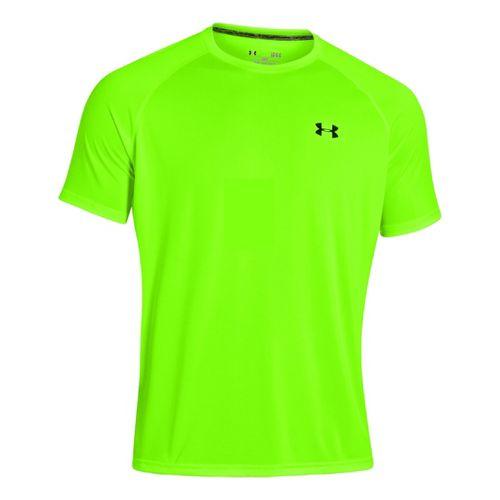 Mens Under Armour Tech EmboT Short Sleeve Technical Tops - Hyper Green XL