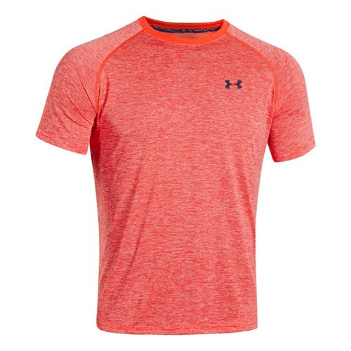 Mens Under Armour Tech EmboT Short Sleeve Technical Tops - Neo Pulse/Academy L