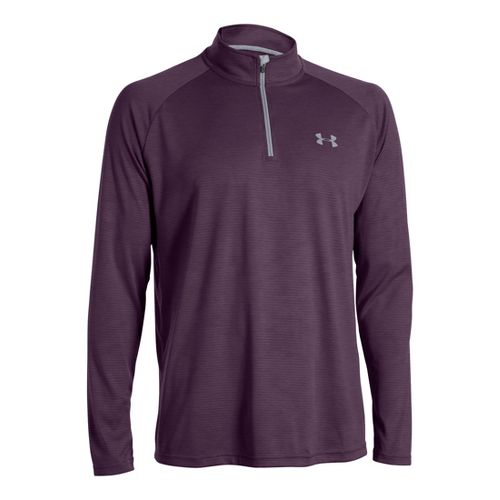 Mens Under Armour Tech 1/4 Zip T Short Sleeve Technical Tops - Echo/Steel XXL