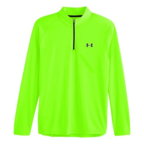 Mens Under Armour Tech 1/4 Zip T Short Sleeve Technical Tops - Hyper Green/Black XL ...