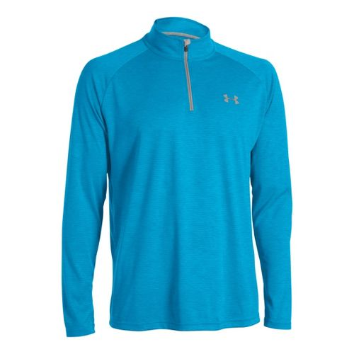 Mens Under Armour Tech 1/4 Zip T Short Sleeve Technical Tops - Pirate Blue/Aluminum XL ...