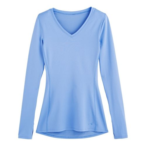 Womens Under Armour Coldgear Infrared V-Neck Long Sleeve No Zip Technical Tops - Ceylon L ...