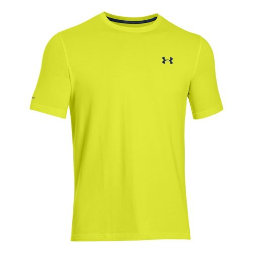 Mens Under Armour Charged Cotton T Short Sleeve Technical Tops - Flash Light/Academy M