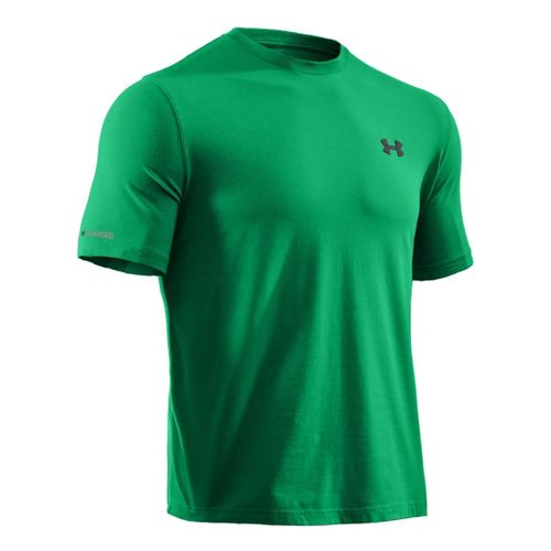 Mens Under Armour Charged Cotton T Short Sleeve Technical Tops - Feisty/Black L
