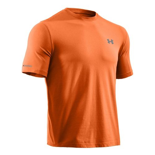 Mens Under Armour Charged Cotton T Short Sleeve Technical Tops - Mandarin M