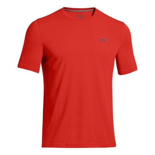 Mens Under Armour Charged Cotton T Short Sleeve Technical Tops - Orange L