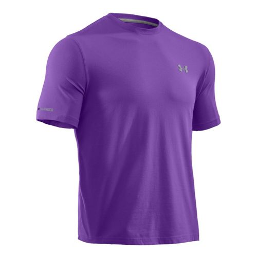 Mens Under Armour Charged Cotton T Short Sleeve Technical Tops - Pride/Steel S