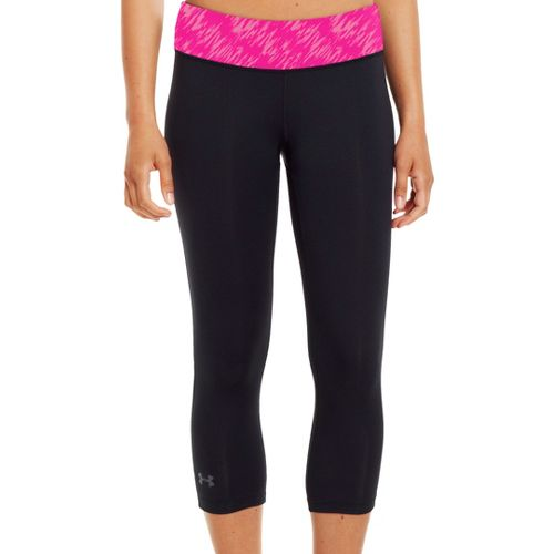 Womens Under Armour Sonic Capri Tights - Black/Cerise XL