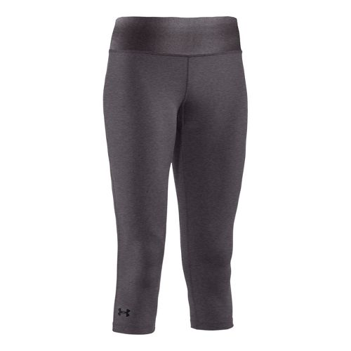 Womens Under Armour Sonic Capri Tights - Carbon Heather/Carbon Heather XS