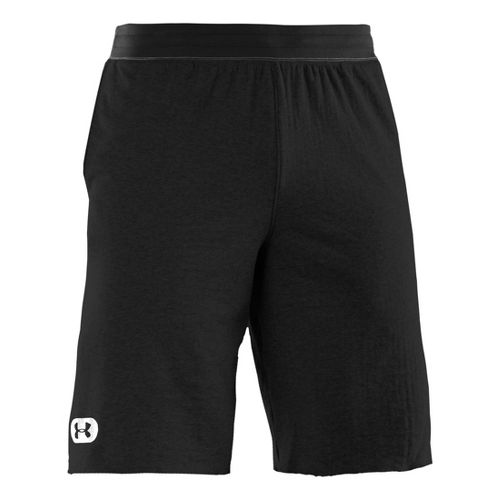 Mens Under Armour Charged Cotton Contender Unlined Shorts - Asphalt Heather/White XXL