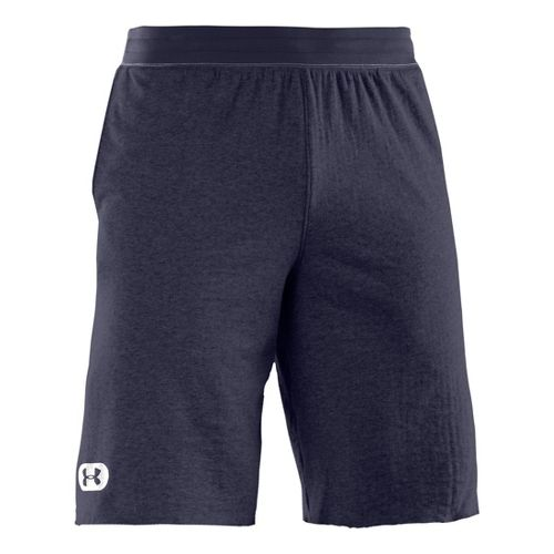 Mens Under Armour Charged Cotton Contender Unlined Shorts - Midnight Navy/White S