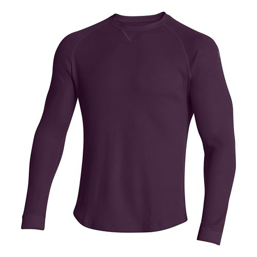 Mens Under Armour Thermal Crew 2.0 Long Sleeve No Zip Technical Tops - Echo/Graphite XL ...